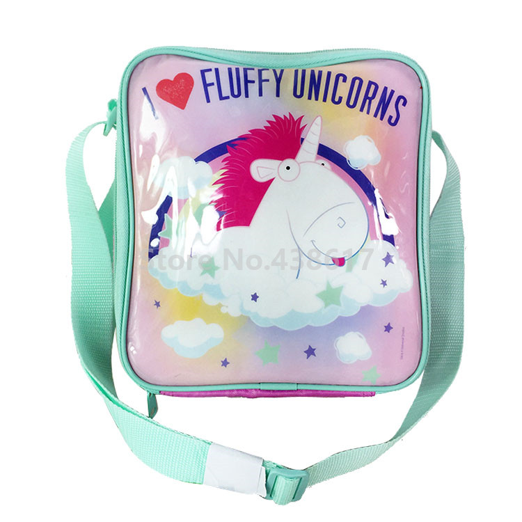 US $15 5 |Girls Dreamlike I Fluffy Unicorn Lunch Bag Box Insulated for Kids  Children School Lunchbox Picnic Food Bags-in Lunch Bags from Luggage &