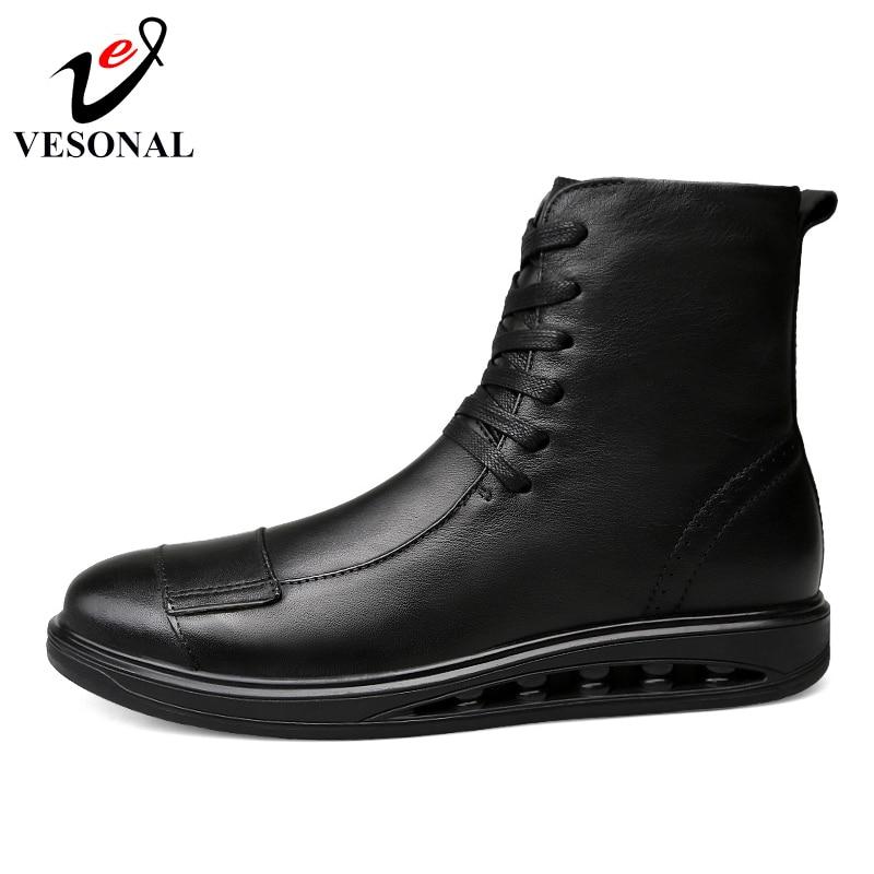 Qualité Mode Boots Bottes Hommes D'affaires 2018 Populaire 1185 Automne brown Adulte Boots Cuir De Marque Mâle Vesonal Black Véritable Pour Chaussures VGqSUpzM