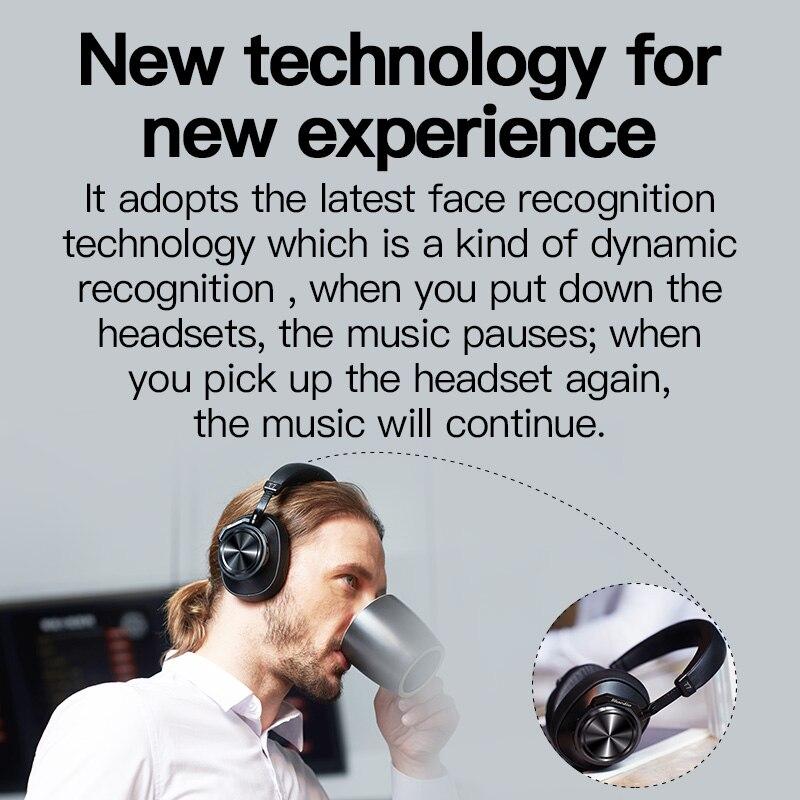 Bluedio T7 casque Bluetooth sans fil 2019 nouveau multifonction HIFI stéréo actif réduction du bruit reconnaissance du visage casque de musique - 4