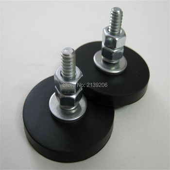 4pcs 8kg Pulling force D43mm strong neodymium ndfeb magnet sucking disc rubber wrapped scratch-resistant magnetic fasteners