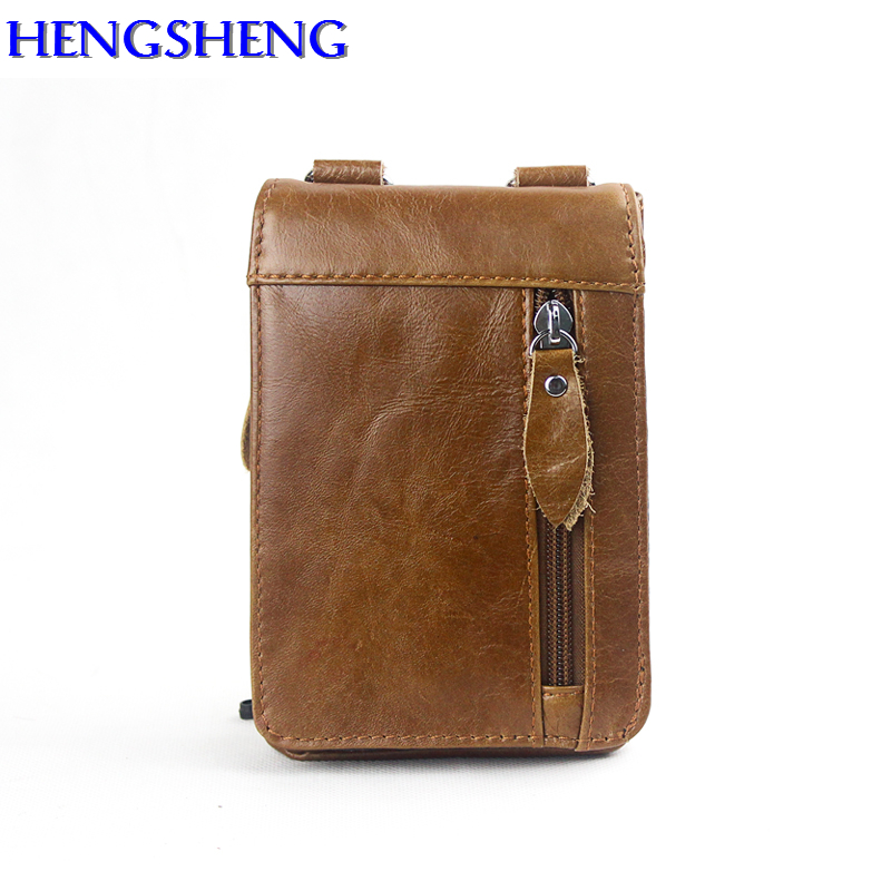 Hengsheng fashion small men shoulder bags with top quality genuine leather men messenger bag for casual male shoulder bag 2
