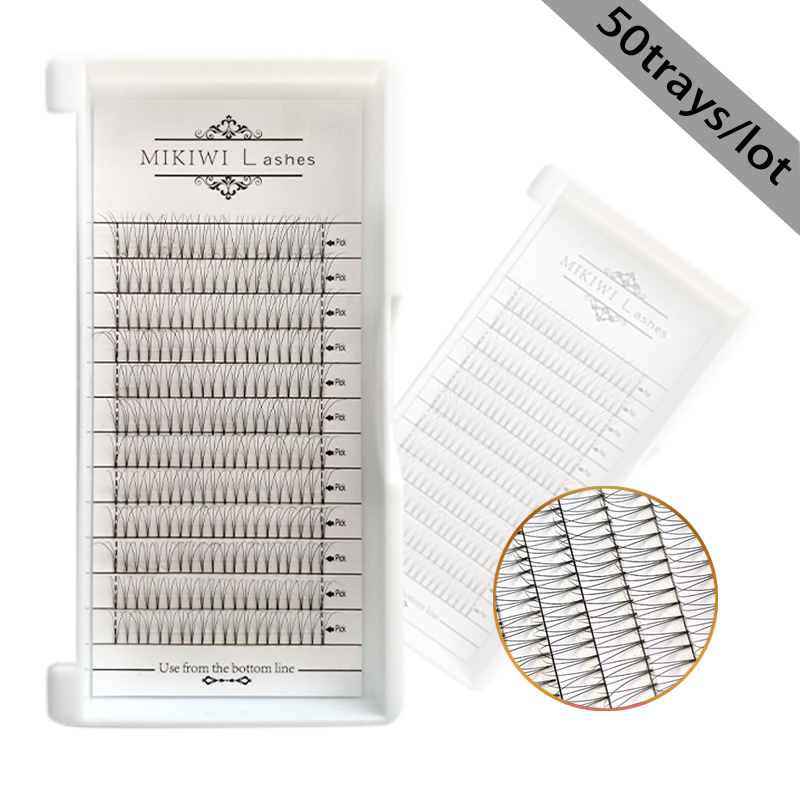 MIKIWI russian volume lashes hand made  premade fans 6D 50trays 0.07mm  12Rows  root tape lashes extension makeup lashes eyelashMIKIWI russian volume lashes hand made  premade fans 6D 50trays 0.07mm  12Rows  root tape lashes extension makeup lashes eyelash