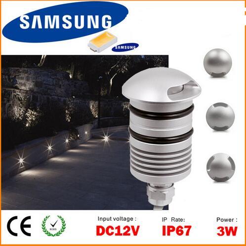 led underground Garden Light 12V 1w led decking lights IP67 floor ...