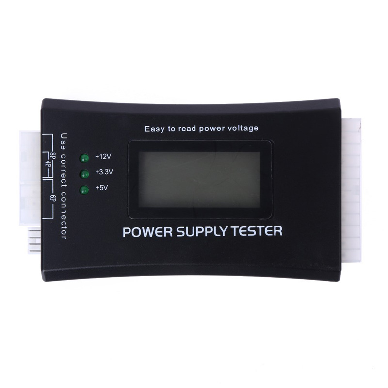 Digital LCD Power Supply Tester Multifunction Computer 20/24 Pin Sata HDD ATX BTX ITX Voltage Test Source