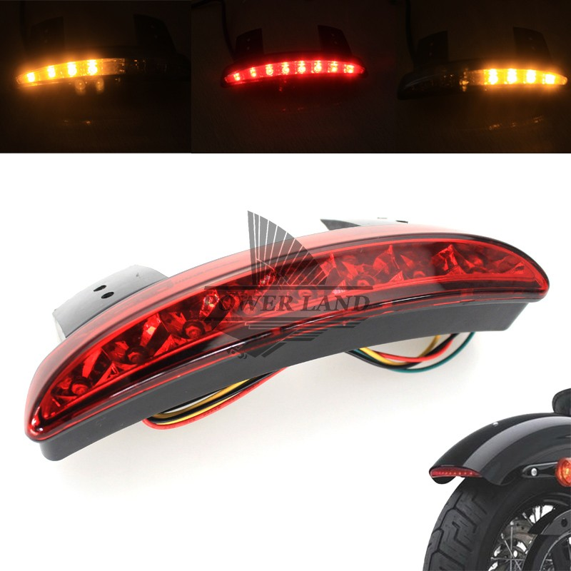 New Motorcycle Red Lens Rear Fender Edge LED Tail + Turn Signal Light Fits For 2004-2013 Harley Sportster XL883 1200 48 Custom brand new silver color motortcycle accessories abs plastic led tail light fit for harley harley iron 883 xl883n xl1200n chopped