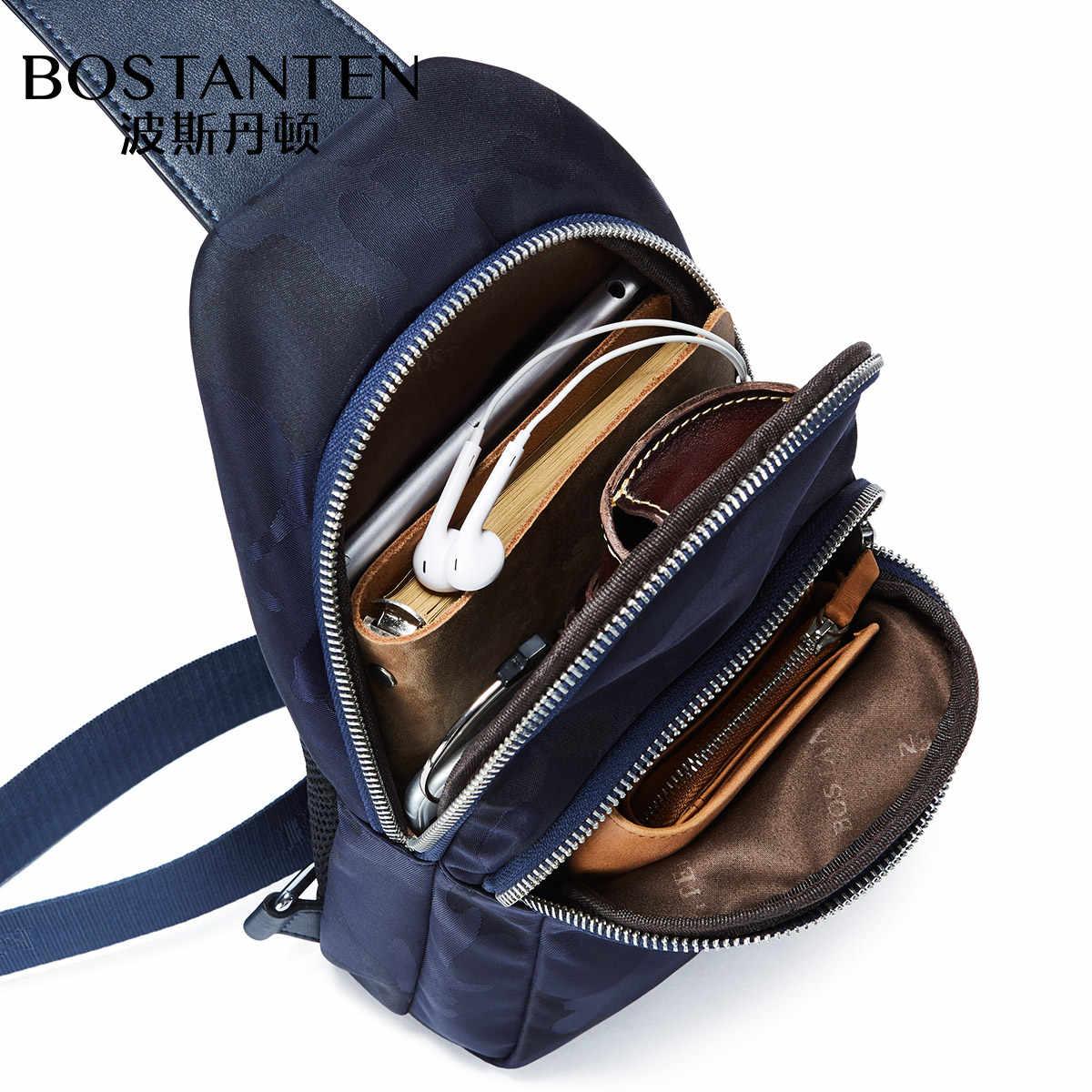 Bostanten saco Crossbody sacos de Peito Lona Ocasional dos homens Novos da Marca À Prova D' Água Novo Estilo Pequenos Sacos de Moda Alça de Ombro Único