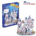 2014 new clever&happy land   3d puzzle model Aquarium adult puzzle diy paper model for boy paper
