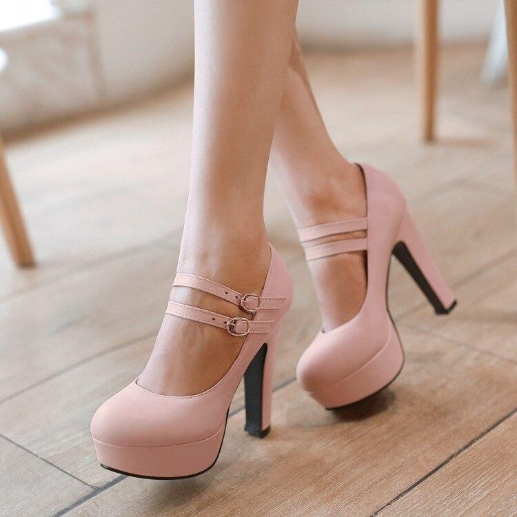 Tacón Beige Oxford Alto Femenino Femme Zapatos 2017 rosado Señoras Sexy Más Para púrpura Venta Tamaño De Estilo 8 verde Chaussure El Mujeres Las Sapato 99 7Awq1O