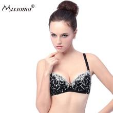 Missomo New Seamless Suporte Women Bra Lace Emboridory Sexy Bralette Push Up Female Intimate Underwear Lingerie
