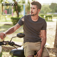 SIMWOOD Brand 2018 Hot Sale New Men Clothing T Shirt Summer Short Sleeve O Neck Casual
