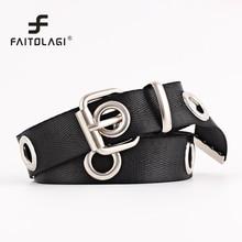 Fashion Designer Female Belt Cummerbunds Canvas Adjustable Wide Long Belt Metal O-Ring Lady Sweater Dress Belts