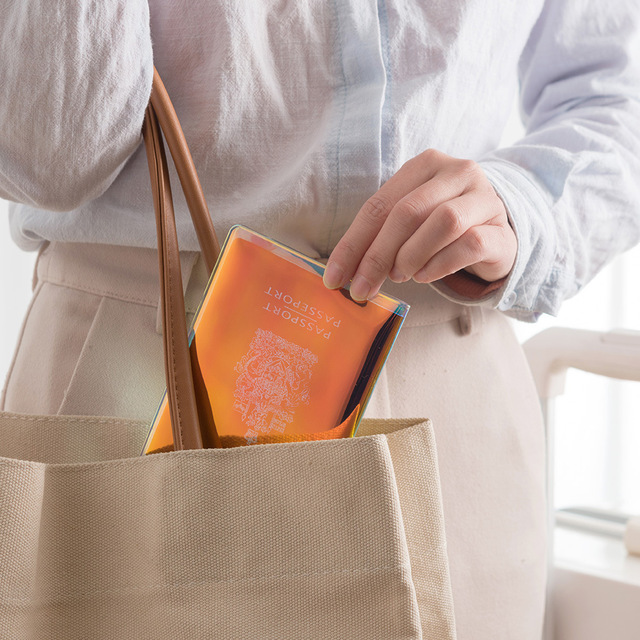 Fashion laser Paillette PVC Passport Holder Cover Women Storage Organizer Card Case Busines Credit Wallet Travel Accessories 4