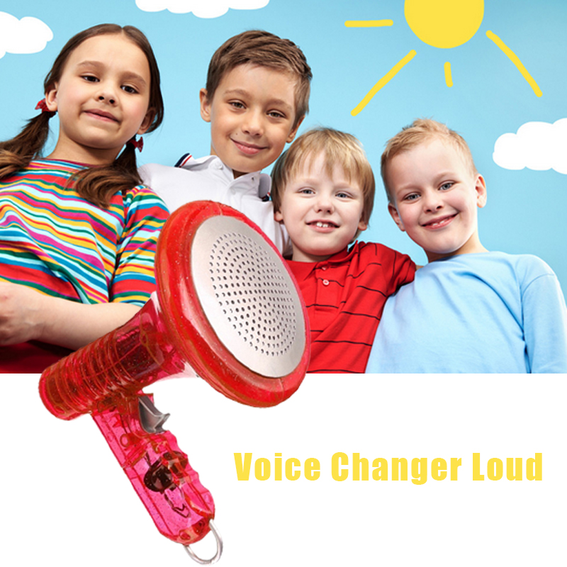 LED Voice Changer Superbright Children Kids Toy Sound Effects Boy Gift Red