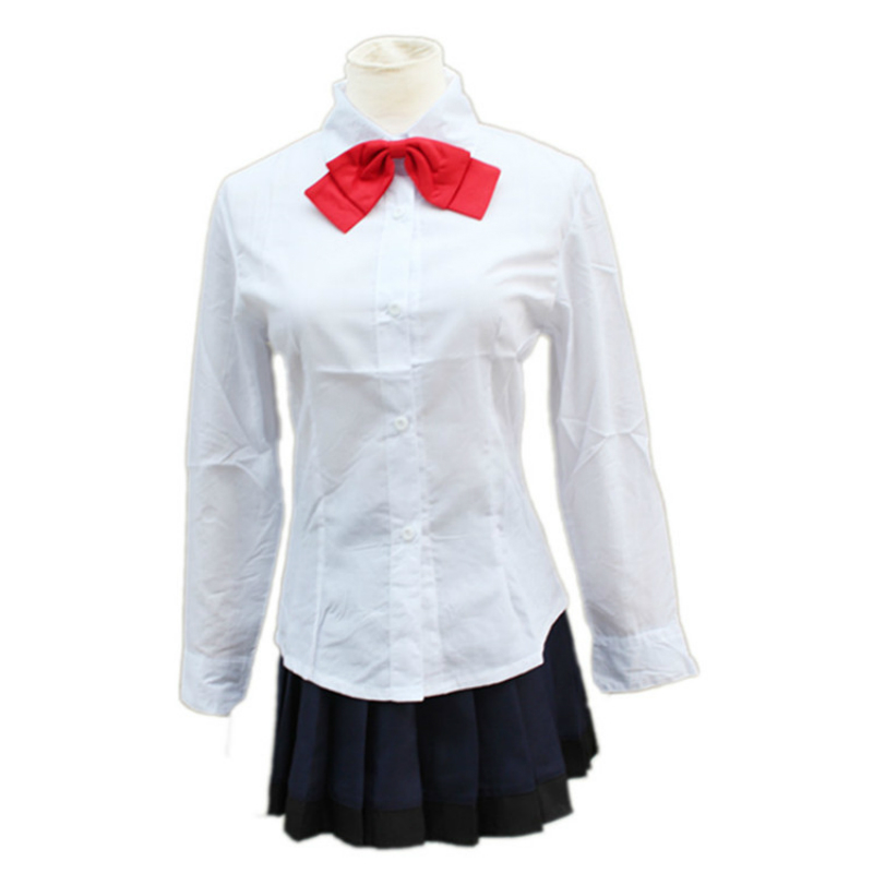 YKJ Anime Costume Cosplay High School Uniform Halloween Party Costume Cosplay per Le Donne Ragazze Set,Suit-XL