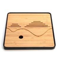Drainage Water Storage Classical Kung Fu Tea Set 3 Styles Traditional Bamboo Tea Tray Simple Tea