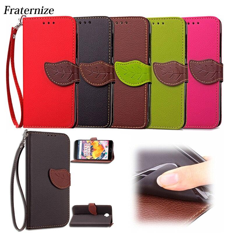 OnePlus 3T Flip Case Leaf Wallet Leather Case For OnePlus 3 3T A3003 Stand Back Cover For OnePlus Three OnePlus  One Plus 1 Bag