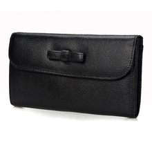 Butterfly 2018 Genuine Leather Women Wallets Luxury Brand Design High Quality Fashion Female Purse Card Holder Long Clutch Bag