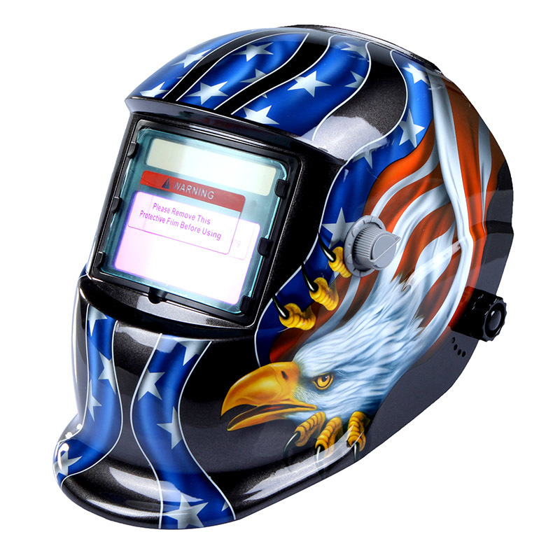 High Performance Welding Mask Solar Auto Darkening Welding Helmet Cap Arc Tig Mig Grinding Eagle Welding &amp Soldering Supplies high performance solar power auto darkening eagle welder mask arc mig tig grinding welding helmet cap for welding machine