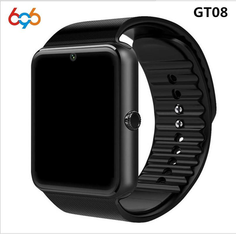 Orologio intelligente Orologio di Sincronizzazione GT08 Notifier Lega di Supporto Sim carta di Tf di Connettività Bluetooth Android Phone Smartwatch Smartwatch