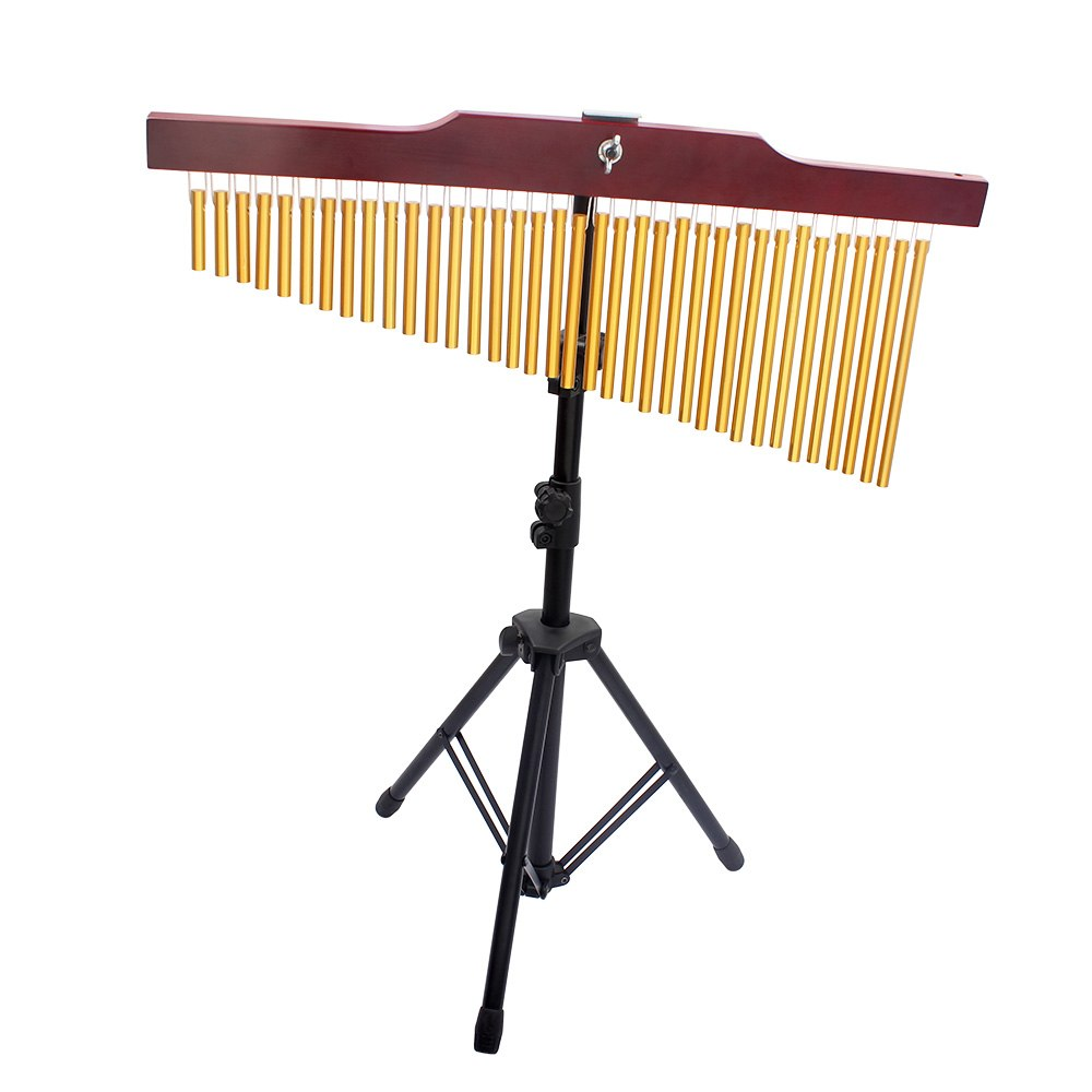 Musical bell 36 Tone Golden Bar Chimes 36 Bars Single row Wind Chime Musical Percussion Instrument