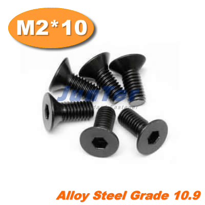 1000pcs lot DIN7991 M2 10 Alloy Steel Flat Head Socket Screw Grade10 9