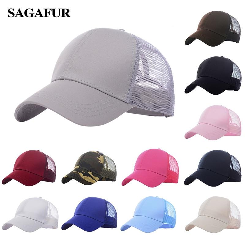 Ponytail   Baseball     Cap   Women Messy Bun Snapback hat Casual Sport Hat Female Adjustable Hip Hop Hats Fashion 2019 new