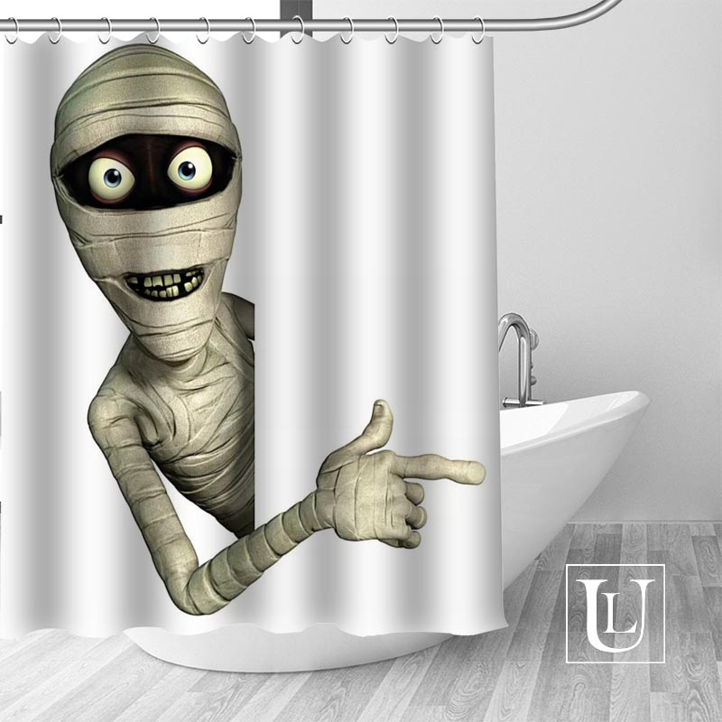 Custom mummy shower curtain new large European&American style print edition polyester shower curtain