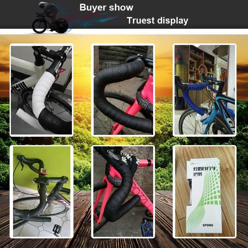 Cinta de manillar de bicicleta Rockbros, barra de manillar de bicicleta de carretera antideslizante, cinta doblada, cinta de manillar de bicicleta, accesorios de bicicleta