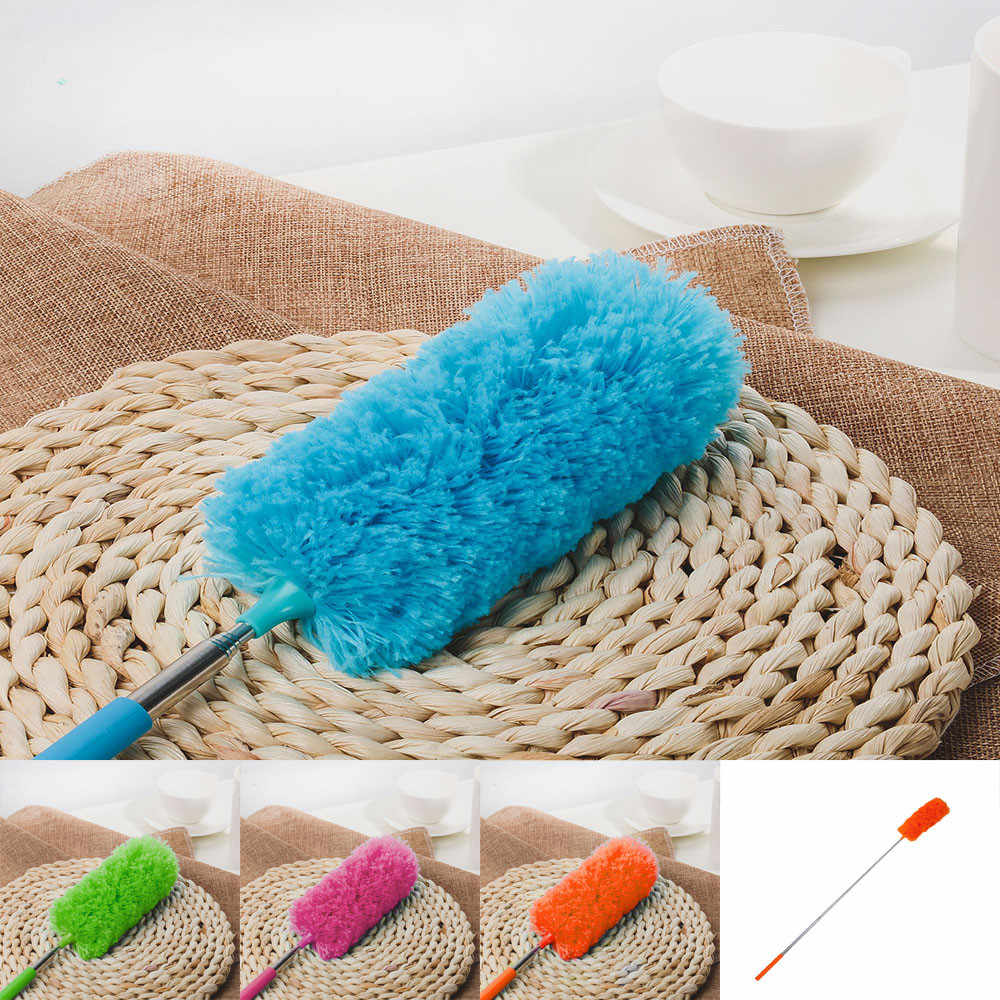 Hot Sale New Adjustable Stretch Extend Microfiber Feather Duster Household Dusting Brush Cleaning Tools Brush Dust Cleaner #F