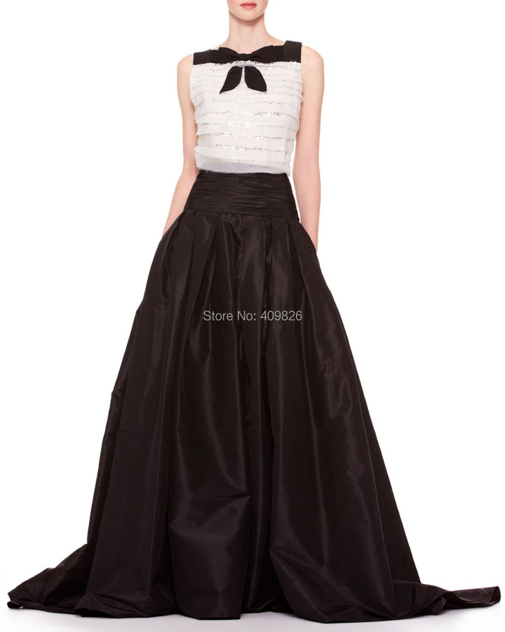 High Waisted Long A Line Skirt - Dress Ala