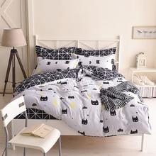 Batman Bedding Set Black Color Cartoon Duvet Cover Sheet Bed Cover Single Full Queen King Size Beddings For Kids