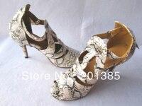 סיטונאי נעלי ריקודים סלוניים סלסה לטינית נעלי עור הדפס נחש נשים 34,35, 36,37, 38,39, 40,41