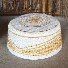 60 cm Sarı Yarmulke Kippah Namaz Türban Şapka Bonnet Saten Bonnet Musulman Suudi Arabistan Kap Erkek Yahudi Kippah Yarmulke Kipa kap