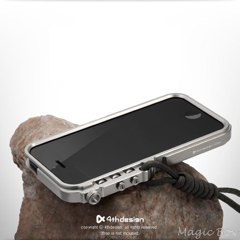 For Apple <font><b>iPhone</b></font> 5 5S SE <font><b>Case</b></font> <font><b>Luxury</b></font> Robot Buckle Metal Shockproof Premium Aluminum Bumper <font><b>Cases</b></font> For IP5S image