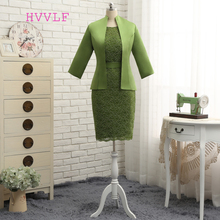 Plus Size 2018 Mother Of The Bride Dresses Sheath Knee Length With Jacket Lace Wedding Party Dress Mother Dress For Wedding