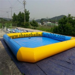 Commercial 10m *10m  Inflatable pool rental large inflatable swimming pool for adult and kids