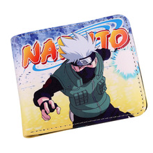 Anime Naruto and Sasuke Themed Wallet With Zipper Coin Section Bifold Purse Wallet Credit/ID Card Holder