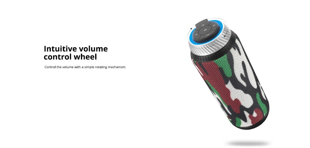 Tronsmart Element T6 Bluetooth Speaker 25W Portable Speaker with 360 Stereo Sound Soundbar Column 15H Play Time-Camouflage