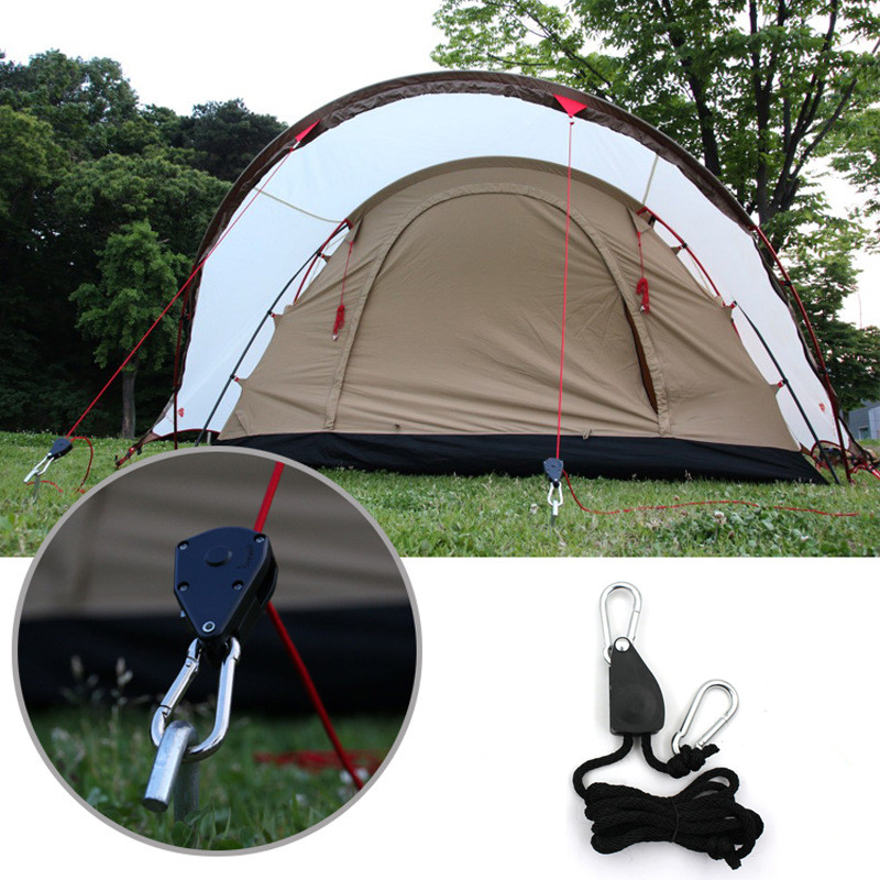 Camping Pulley Rope Buckle Anti-slip Hook Wind Knot Tightening Tent Accessory