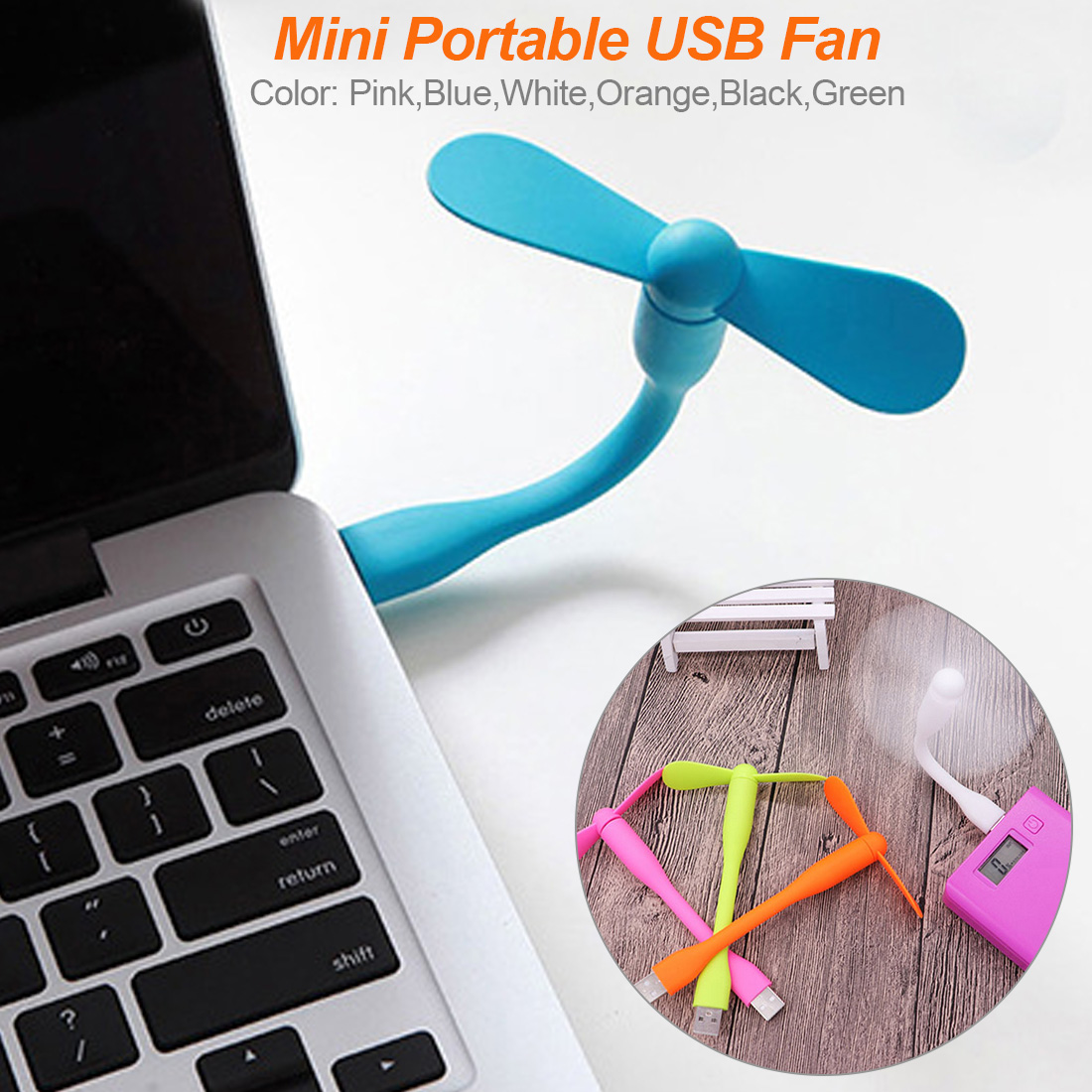 2 en 1 USB ventilateur Flexible Mini USB mis Portable Mini ventilateur USB gadgets pour tablette batterie externe ordinateur amovible USB ventilateur