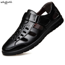 WHOHOLL Summer Dress  Leather Shoes Men Business Casual Fashion Italian Mens Formal Office for Loafers