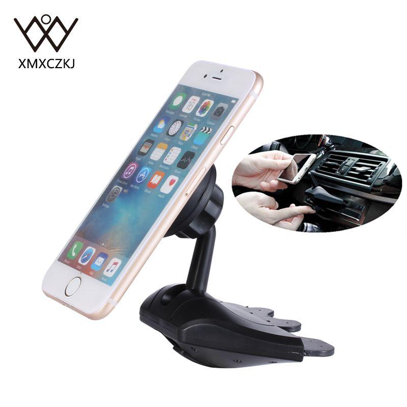 Univerzális 360 fokos autótelefon-tartó, mágneses CD-résű mobiltelefon-tartóval, mobiltelefon-tartóval