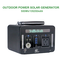 Generator Portable Power Station 220V 500Wh Emergency Backup Lithium Battery Pure Sine wave AC Outlet,Solar Generator Outdoors