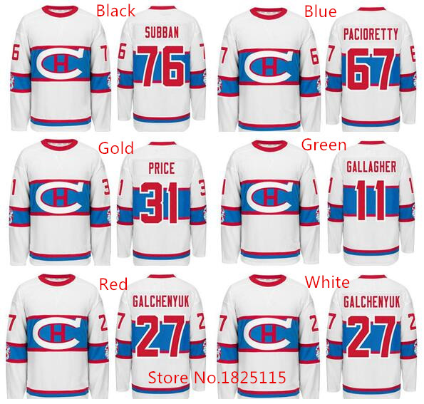 4c04063c1 ... Montreal Canadiens Carey Price Brendan Gallagher Max Pacioretty PK  Subban Alex Galchenyuk White 2016 Winter Classic ...