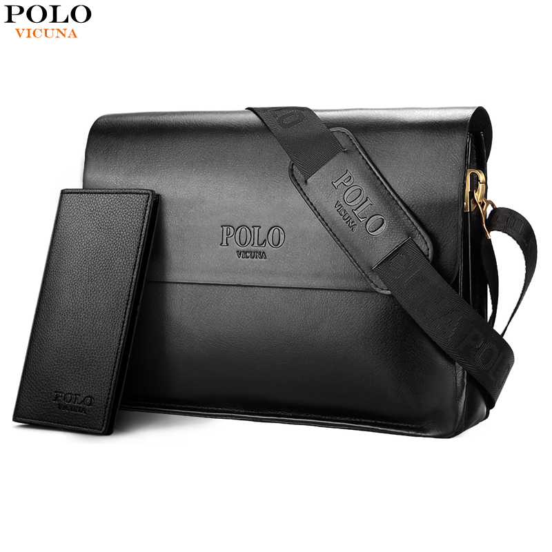 02bca4d0b1b4 VICUNA POLO Famous Brand Men Handbags Casual Shoulder Bag For Male Leather  Mens Crossbody Bag Large. Mouse over to zoom in