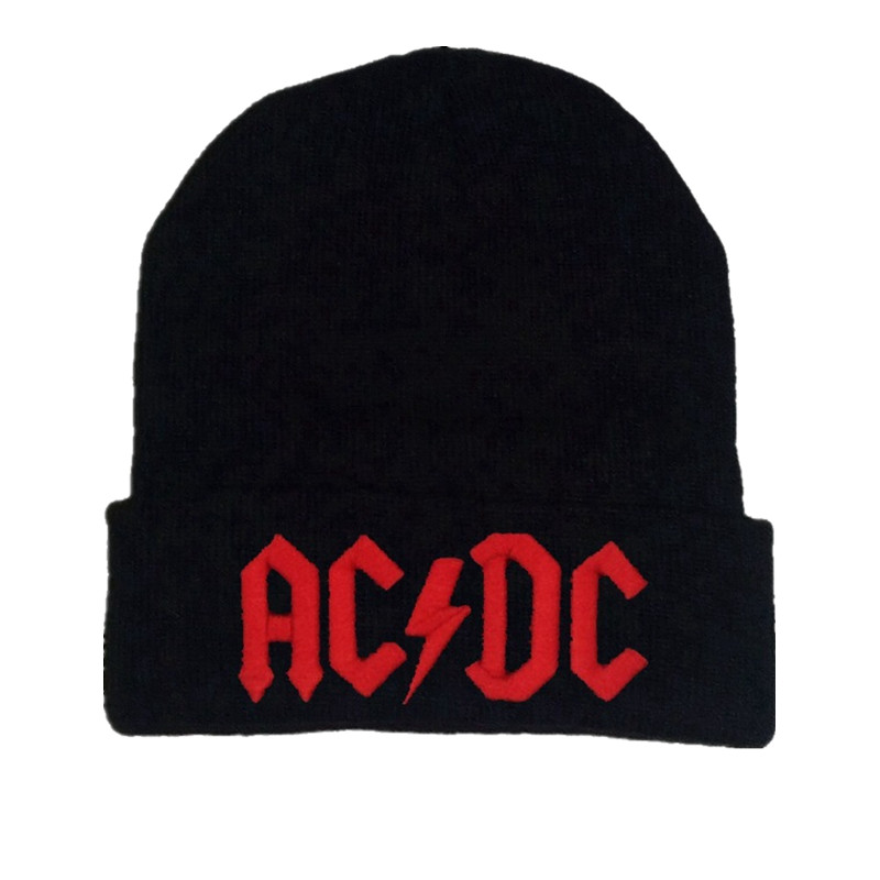 Men Women Winter Warm   Beanie   Hat Rock ACDC AC/DC Rock Band Warm Winter Soft Knitted   Beanies   Hat Cap For Adult Men Women