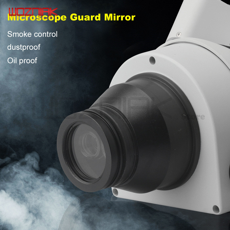 Microscope Scratch Prevention Smoke Control Dustproof Oil Proof Protective Cover Glass Lens