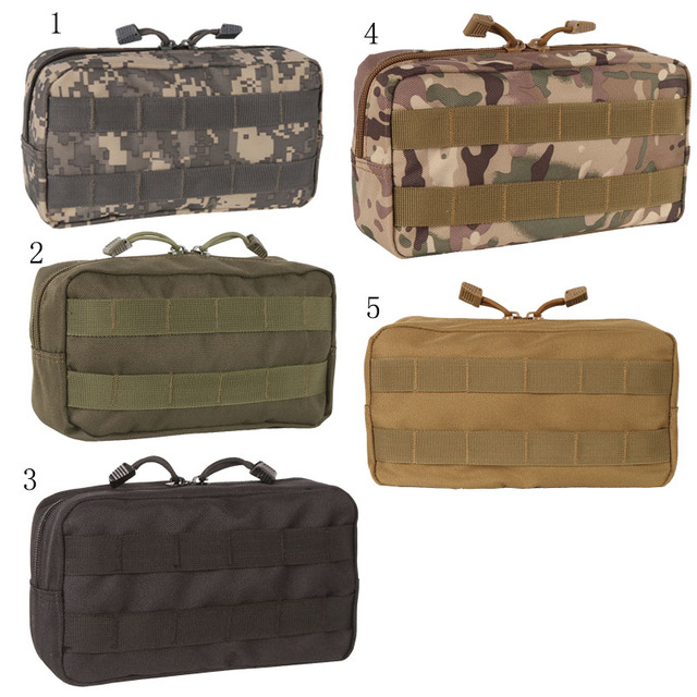 Outdoor Traveling Survive Gear EDC Molle Pouch Military Tool Drop Bag Tactical Airsoft Vest Sundries Camera Magazine Bag