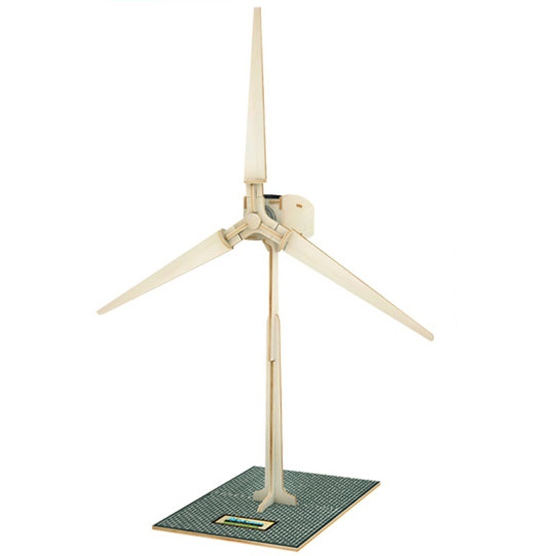 Good Wooden Assembled Model Toy: W100 Solar Wind Turbines 1:24 Assembled Model No Need Russian Language Easy Assembled Best Gift