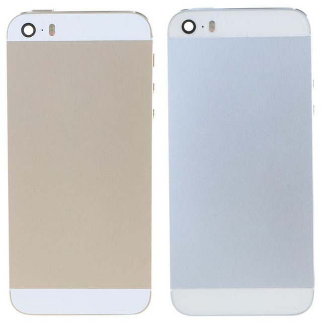 Новое Шасси Полный Запчасти Для iPhone 5s Корпус Ближний Рамка Назад Крышка Батарейного отсека Сзади Корпуса Ассамблеи С Логотипом